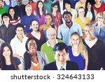 diverse diversity ethnic... | Shutterstock . vector #324643133