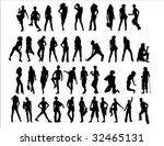 silhouettes | Shutterstock .eps vector #32465131