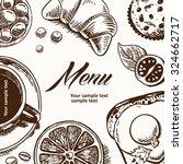 hand sketched illustration of... | Shutterstock .eps vector #324662717