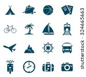 travel icon set | Shutterstock .eps vector #324665663