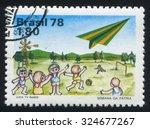 brazil   circa 1978  stamp... | Shutterstock . vector #324677267
