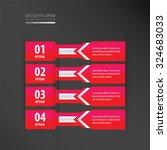 banner design arrow style   ... | Shutterstock .eps vector #324683033