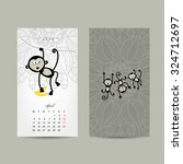 Calendar Grid Design. Monkey ...