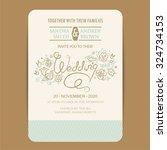 beautiful wedding invitation... | Shutterstock .eps vector #324734153