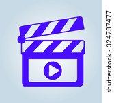 film maker clapper board  icon. ... | Shutterstock .eps vector #324737477
