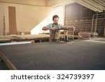 carpenter's workshop with a... | Shutterstock . vector #324739397