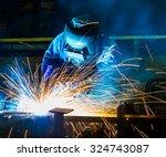 welder industrial automotive... | Shutterstock . vector #324743087