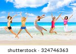 on a sunny day summer exercise  | Shutterstock . vector #324746363