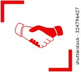 handshake. business and finance.... | Shutterstock .eps vector #324796427