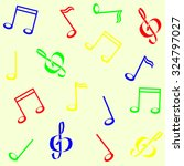 a background with musical notes | Shutterstock .eps vector #324797027