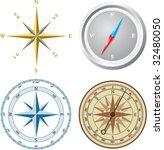 compass. vector illustration. | Shutterstock .eps vector #32480050