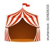 circus tent. vector background | Shutterstock .eps vector #324828233