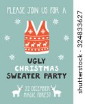 vector invitation template with ... | Shutterstock .eps vector #324833627