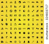 lifestyle 100 icons universal... | Shutterstock .eps vector #324833717