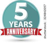 flat design 5 year anniversary... | Shutterstock .eps vector #324842057