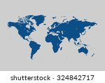 map of world | Shutterstock .eps vector #324842717