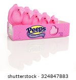 Small photo of Millburn, USA - January 19, 2012: Peeps are well known marshmallow candies popular around the Easter holiday.