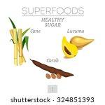 Superfoods. Healthy Sugar. Set...