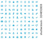 credit 100 icons universal set... | Shutterstock .eps vector #324852833