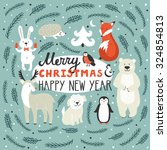 vector holiday background with... | Shutterstock .eps vector #324854813