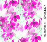 abstract pink watercolor... | Shutterstock . vector #324861377