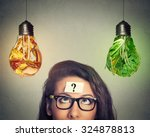 woman in glasses question mark... | Shutterstock . vector #324878813