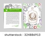 food design template. vintage... | Shutterstock .eps vector #324886913