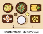 set of chinese food. vector... | Shutterstock .eps vector #324899963