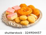 indian sweet pedha  jalebi ... | Shutterstock . vector #324904457