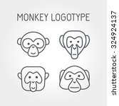 Monkey Faces  Logo And Icon....