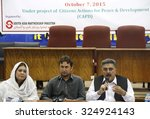 Small photo of PESHAWAR, PAKISTAN - OCT 07: Seminar on abolishment of FCR and FATA status and constitutional rights under the project of Citizen Actions for Peace and Development, on October 07, 2015 in Peshawar.