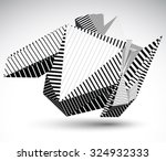 cybernetic contrast element... | Shutterstock .eps vector #324932333