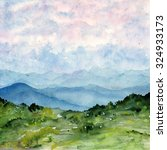 watercolor painting landscape....   Shutterstock . vector #324933173