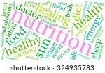 nutrition word cloud on a white ... | Shutterstock .eps vector #324935783