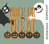 halloween vector card with cute ... | Shutterstock .eps vector #324941147