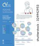 short cv resume template | Shutterstock .eps vector #324942953