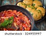 traditional ukranian beetroot...   Shutterstock . vector #324955997