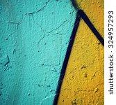 graffiti closeup   retro photo. ... | Shutterstock . vector #324957293