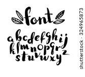 hand drawn alphabet. font. | Shutterstock .eps vector #324965873