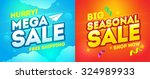 mega sale and seasonal sale... | Shutterstock .eps vector #324989933