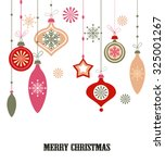 christmas decorations. vector... | Shutterstock .eps vector #325001267