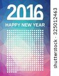 2016 happy new year. fresh... | Shutterstock . vector #325012463