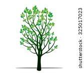green tree. vector illustration. | Shutterstock .eps vector #325017023
