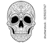 day of the dead sugar skull... | Shutterstock .eps vector #325023767