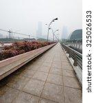 Haze Fills The Esplanade Bridg...
