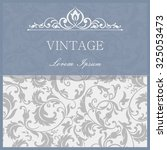 vintage invitation card with... | Shutterstock .eps vector #325053473