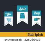 offer  sale and buy labls ... | Shutterstock .eps vector #325060433