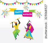 celebrate navratri festival...   Shutterstock .eps vector #325068527