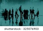 business people commuter... | Shutterstock . vector #325076903