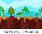 vegetables decorative icons set ... | Shutterstock . vector #325080323